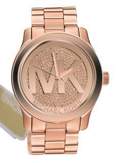 Michael Kors MK5661 runway rose gold tone dial rose gold tone