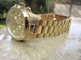Michael Kors Womens Runway Gold Tone Chronograph Watch MK5055 A7