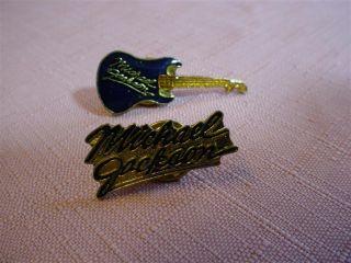 Michael Jackson Vintage Guitar Name Pin Memorabilia