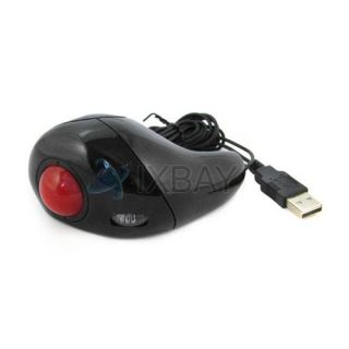 Laptop PC Optical Hand Held USB Mouse Mice w Trackball