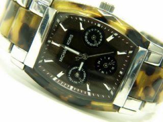 Michael Kors Womens Brown Gold Print Watch MK5051