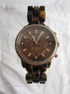 tortoise chronograph women s watch we have a michael kors mk 5366 show