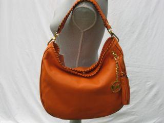 Michael Michael Kors Orange Bennet Large Shoulder Bag Handbag Purse