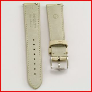 Michele Nude Gold Patent Leather Watch Strap Band Silver Buckle 16mm