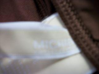 Michael Kors Womens Brown One Piece Swimsuit Sz10