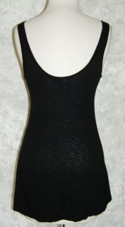 Michael Stars Black Embellished Studded Tank Top One Size Sequin