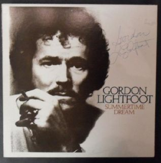 Gordon Lightfoot Signed x5 LP Autograph COA Summertime Dream Original