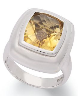 Sterling Silver Ring, Citrine Cushion Cut Ring (4 3/4 ct. t.w