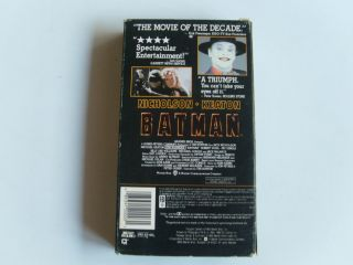 Batman VHS Movie Video Tape Jack Nicholson Michael Keaton VG