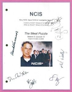 Puzzle Signed by Mark Harmon David McCallum Michael Weatherly