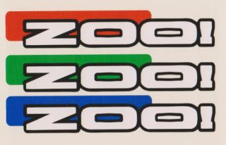 Zoo Trial Bike Frame Stickers Decals Cycle