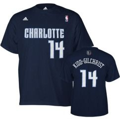 Charlotte Bobcats Michael Kidd Gilchrist Blue Name and Number Jersey T