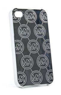 Michael Kors Silver Metallic Phone 4 4S Case Cover New