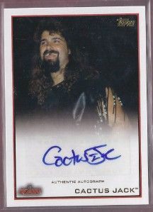 Cactus Jack Mick Foley Autograph Topps WWE 2012 Topps Auto Raw