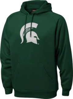Michigan State Spartans Green Tackle Twill Performance Fleece Hooded
