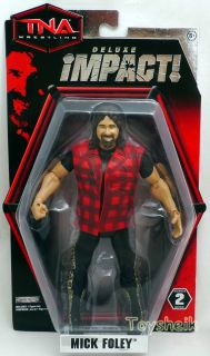 TNA Deluxe Impact S2 Mick Foley Figure Jakks