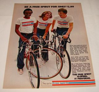 1975  Be A Free Spirit 10 Speed Bicycle Ad Page