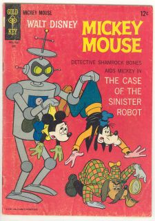 Mickey Mouse 113 Disney Gold Key Comic Book Robot Cover