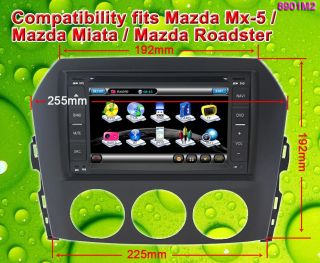 GPS Radio Navigation Car DVD 2Din TV Mazda MX 5 Miata