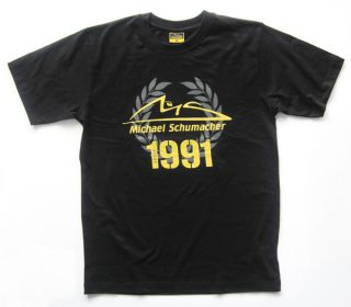 Michael Schumacher Collection Records of A Champion T Shirt Black