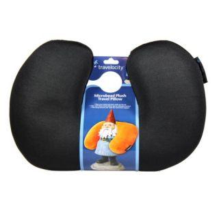 Travelocity Travel Neck Pillow Black Microbead TVP BK