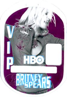 Unused VIP laminated backstage pass for the BRITNEY SPEARS 2001 2002