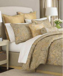 Martha Stewart Shangri La Gold 23 Piece Queen Comforter Set