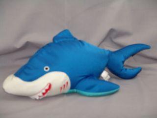 Big Squishy Microbead Pillow Blue Great White Shark Plush Stuffed