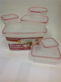 Tupperware Plastic Food Storage Containers Freezer Microwave Click and