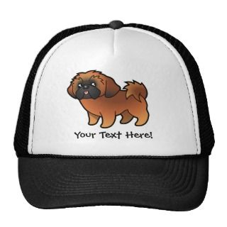 Cartoon Shih Tzu (red puppy cut) hats by SugarVsSpice