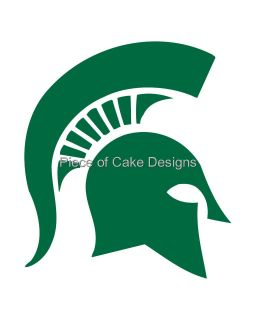Michigan State Logo Edible Image Icing Cake Cupcaketopper Look