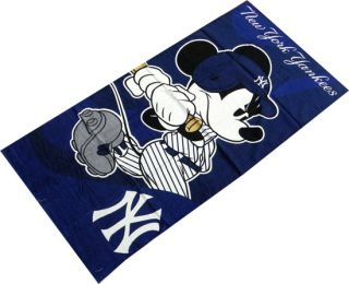 New York Yankees Mickey Mouse Beach Towel 30 x 60