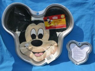 Wilton Disney Mickey Mouse Face Cake Pan 2001 Mini Singles Mold Cake