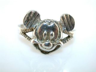 RING WITH THE MICKEY MOUSE HEAD DESIGN. THE RING IS MARKED 925