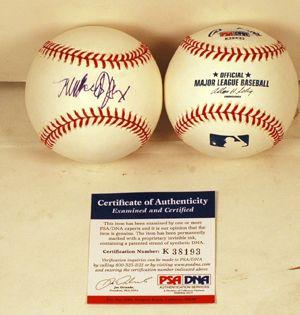 Michael J Fox Signed Autograph MLB Baseball PSA COA