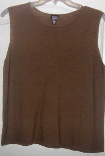 New Eileen Fisher Moss Green Wool Tank Sweater Top M