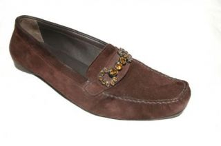 Michael Kors Brown Leather Wood Heel Clogs Mules Womens 6 M