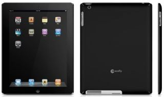 Macally Black Snap on Rubberized Hard Case for iPad 2