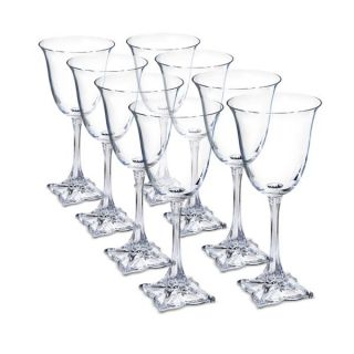 Mikasa Florale Wine Glasses Set of 8