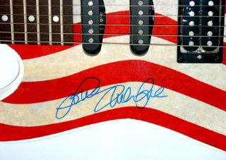 Beach Boys Autographed Mike Love Signed Guitar Great Proof UACC RD COA
