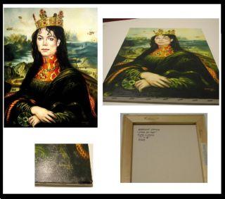 Michael Jackson Mona lisa Recreation masterpiece original Painting.
