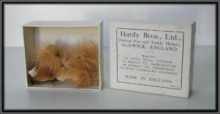 HARDY American SALMON FISHING HEWITT LA BRANCHE DRY FLIES+BOX ~Trout