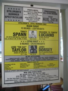 1990 Tracy Spann vs Eduardo Luciano on Site Boxing Poster New York