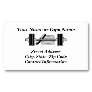 Bodybuilding Weight Bar Personal or Business Card