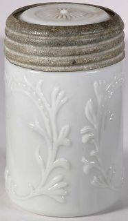 Fancy Milk Glass Fruit Jar Half Pint Mustard Jar