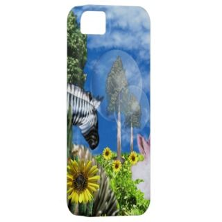 Zebra, bunnies sunflowers iphone barelythere case iPhone 5 covers