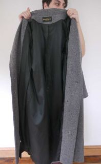 Vtg 80s Wool Full Length Peacoat Pea Coat Jacket USA
