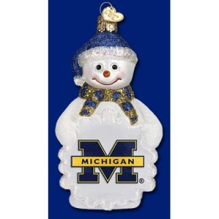 University of Michigan Snowman Christmas Ornament