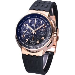 Mido All Dial Mechanical Automatic Chronometer Swiss Watch Black Gold
