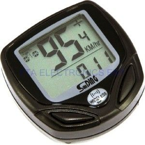 Wireless Waterproof LCD Bike Bicycle Cycle Computer Odometer